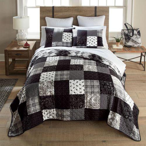 London Mini Quilt Set Black