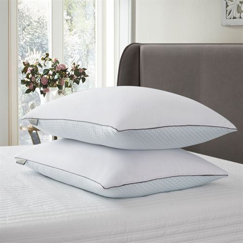 Summer Winter Jumbo Sleep Pillows White Set of Two
