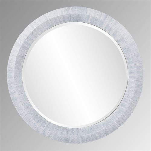 Ormond Round Wall Mirror Gray