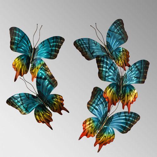 Sunset Butterflies Pair Wall Sculpture Multi Jewel