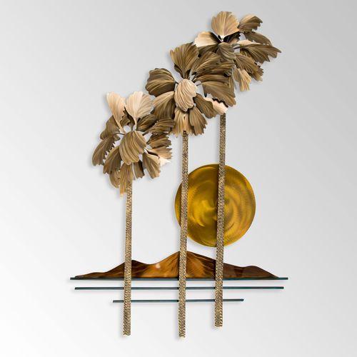 Desert Palms Wall Sculpture Multi Metallic