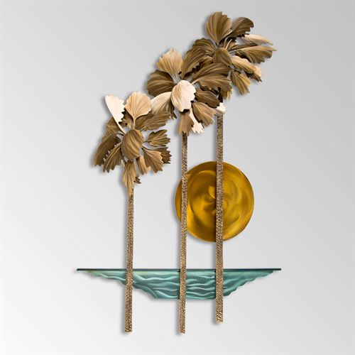 Pacifica Palms Wall Sculpture Multi Metallic