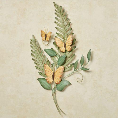 Butterfly Song Bouquet Wall Art Green