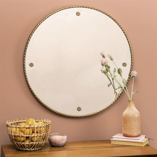 Henry Round Wall Mirror Antique Gold