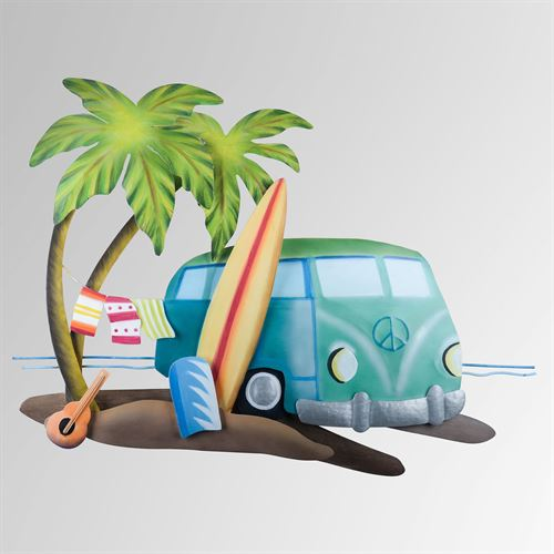 Beach Bus Wall Art Multi Bright