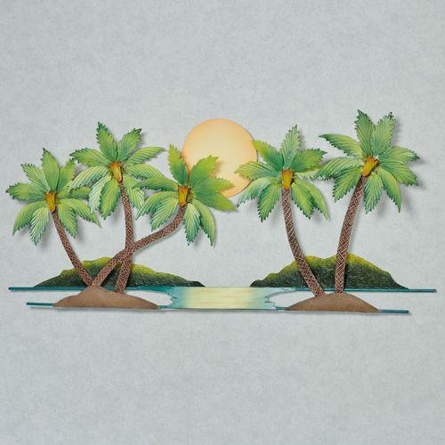 Paradise Palms Wall Art Green
