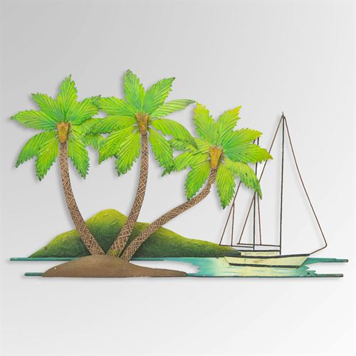 Sail Away Palms Wall Art Green