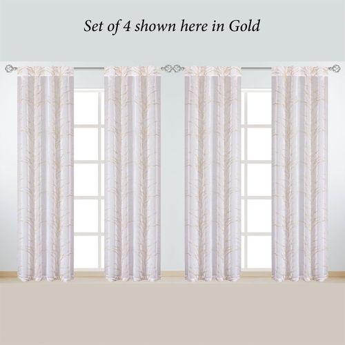 Adaira Sheer Curtain Panel Set of Four 152 x 84