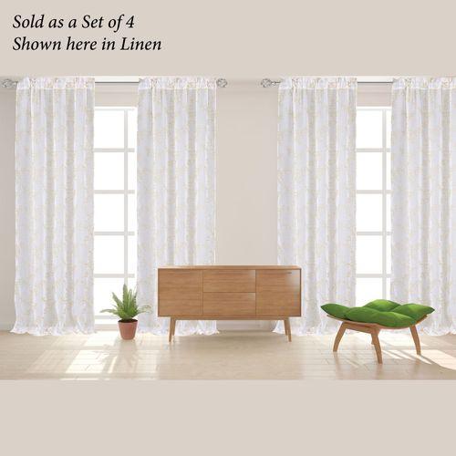 Auraria Sheer Curtain Panel Set of Four 152 x 84
