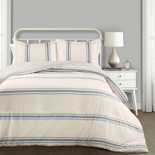 Farmhouse Stripe Mini Comforter Set