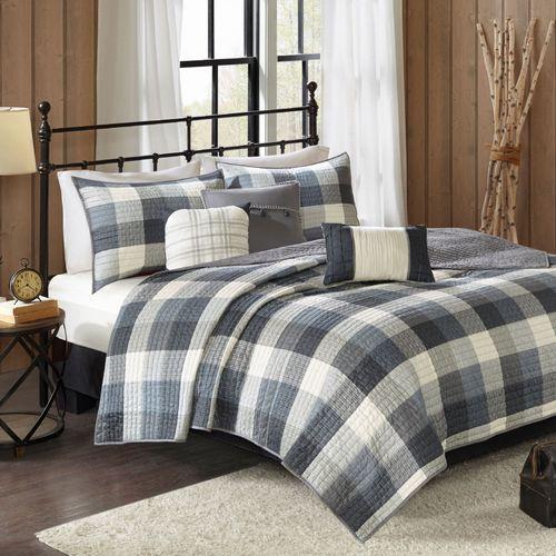 Ridge Coverlet Bed Set Gray