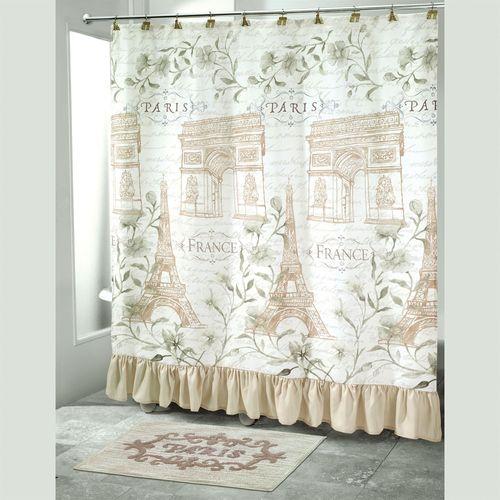 Paris Botanique Shower Curtain Off White 72 x 72