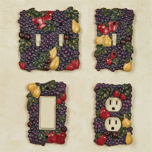 Tuscan Fruit Single Switch Multi Jewel