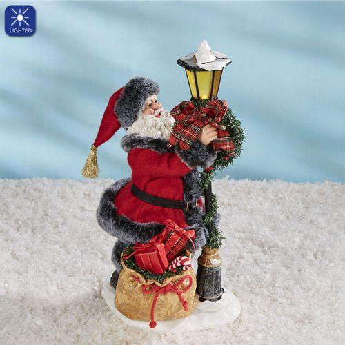 Festive Flair Clothtique Santa Figurine Red