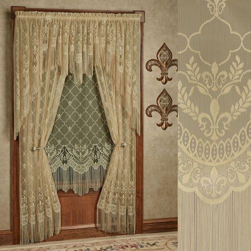 Fleur de Lis Lace Curtain Panel