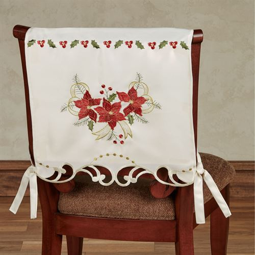 Poinsettia Palace Chair Covers Light Cream Set of Two