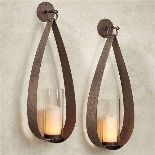 Pharos Wall Sconce Pair Rich Bronze