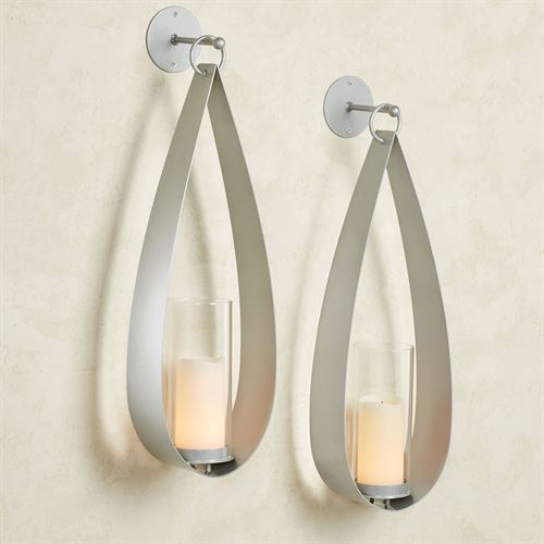 Pharos Wall Sconce Pair Silver