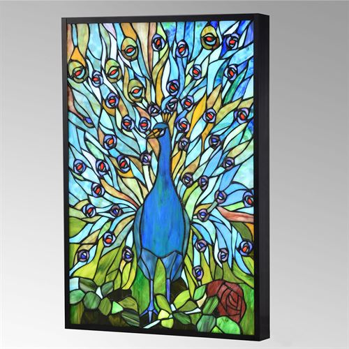 Peacock LED Lighted Wall Art Blue