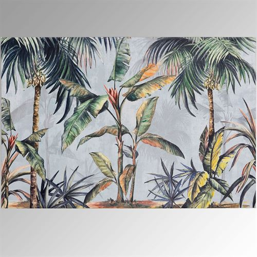 Dancing Palm Trees Canvas Wall Art Multi Earth