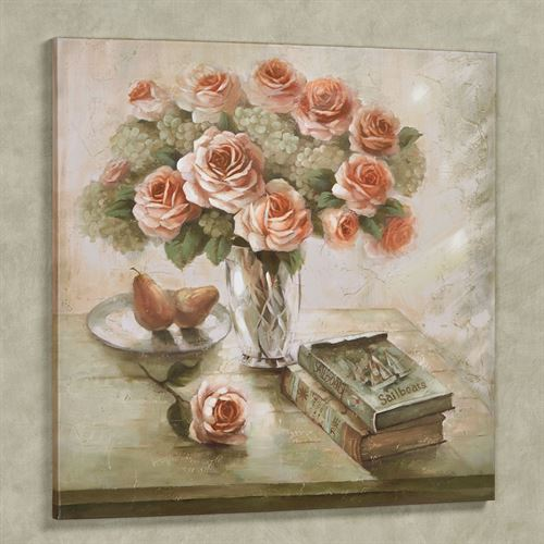 Tranquil Setting Floral Canvas Wall Art Multi Warm
