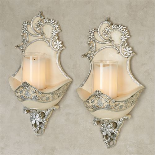 Floressa Wall Sconce Pair Silver