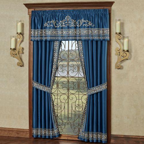Buckingham Tailored Valance Sapphire 72 x 20