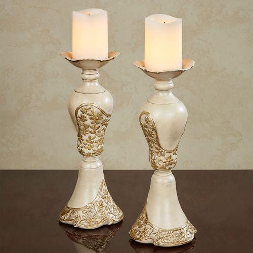 Floressa Candleholder Pair Multi Metallic