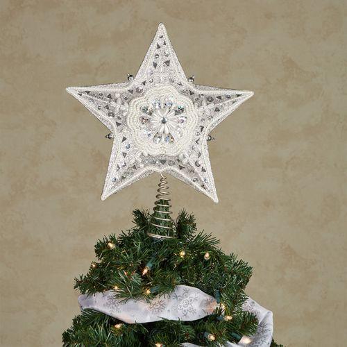 Elegant Star Tree Topper Platinum