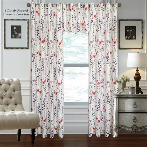 Brixton Wide Grommet Curtain Pair Multi Warm