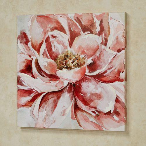 Floral Splendor Canvas Wall Art Claret