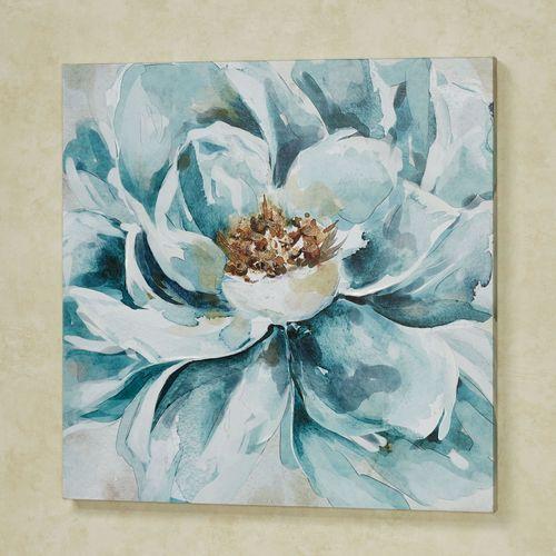 Resplendent Floral Canvas Wall Art Teal