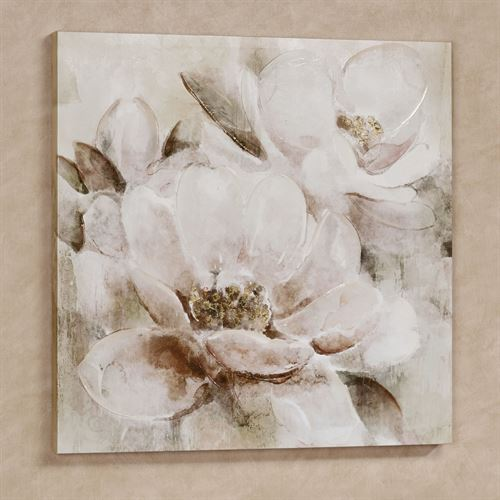 Floral Melody Canvas Wall Art Ivory