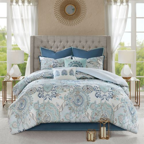 Isla Flora Comforter Bed Set Ivory