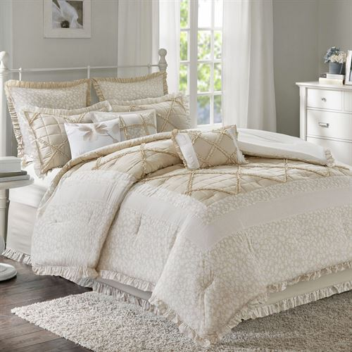 Mindy Comforter Bed Set Oatmeal