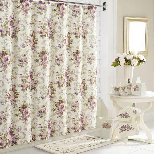 Chambord Shower Curtain Eggshell 70 x 72
