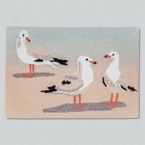 Gulls Sand Rectangle Mat Multi Cool