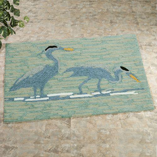 Blue Heron Rectangle Mat