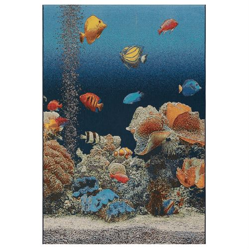 Aquarium Ocean Rectangle Rug Multi Bright