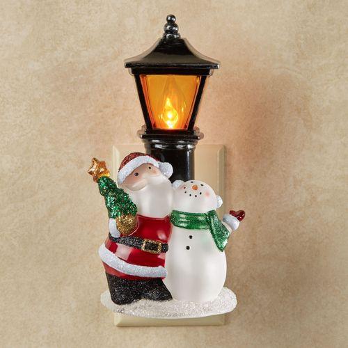 Santa and Snowman Nightlight Red/Green