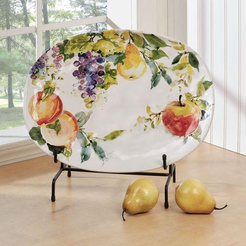 Ambrosia Fruit Oval Serving Platter Multi Jewel