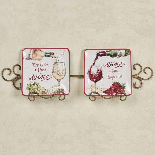 Napa Dessert Plates Burgundy Set of Two
