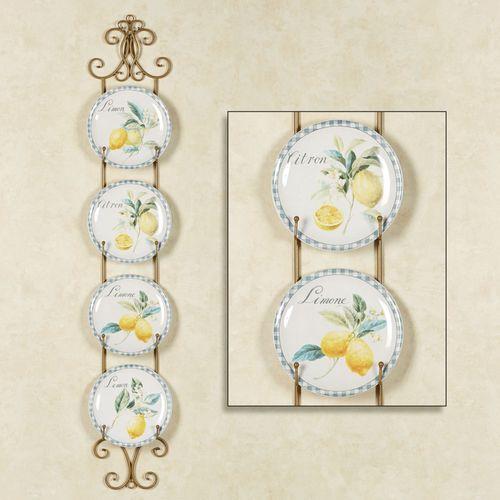 Citron Lemons Dessert Plates Yellow Set of Four
