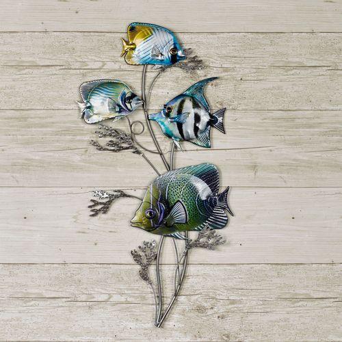 Gleaming Fish Wall Art Silver