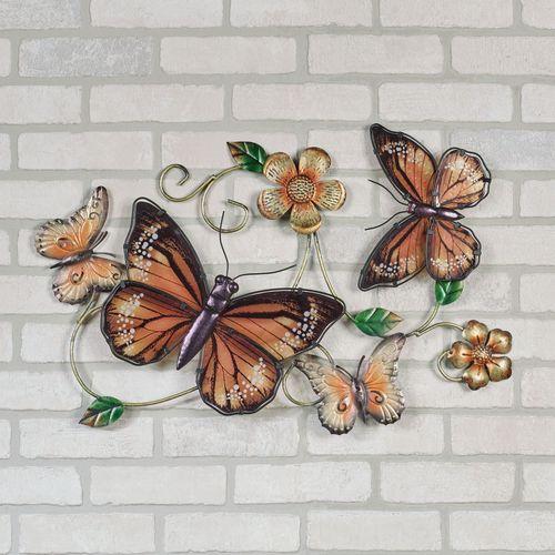 Butterfly Garden Wall Art Multi Earth