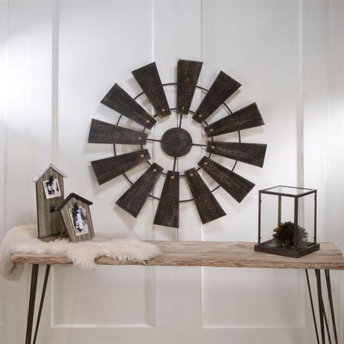 Windmill Wall Art Brown