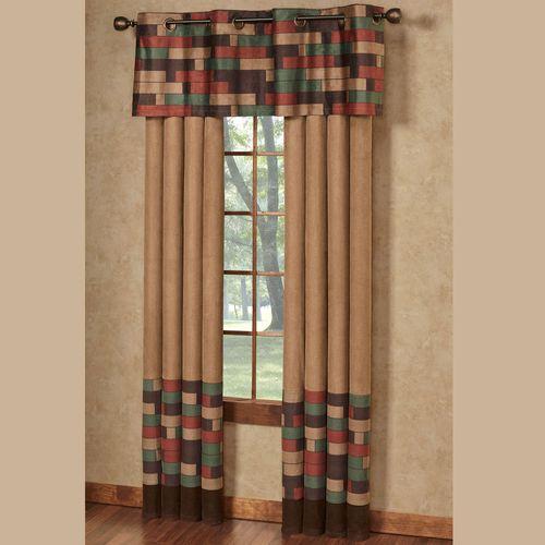 Emerson Grommet Curtain Pair Multi Warm 96 x 84