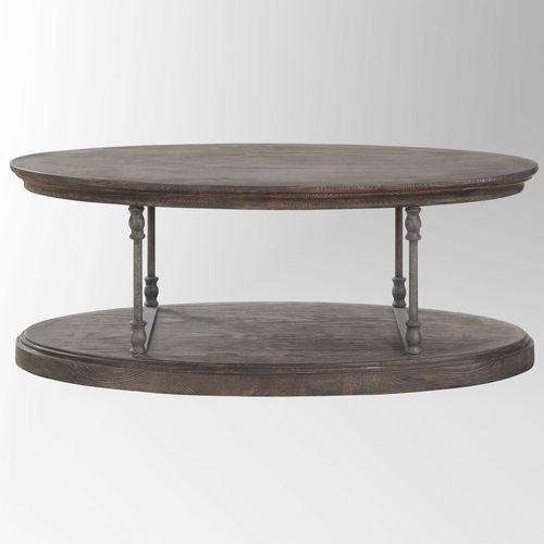 Berea Oval Coffee Table Walnut