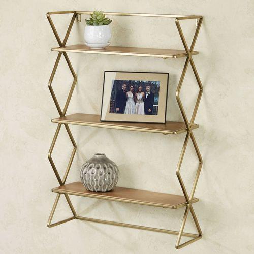 Jamie Wall Shelf Gold