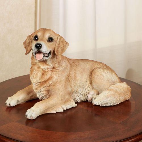 Golden Retriever Dog Sculpture Multi Warm